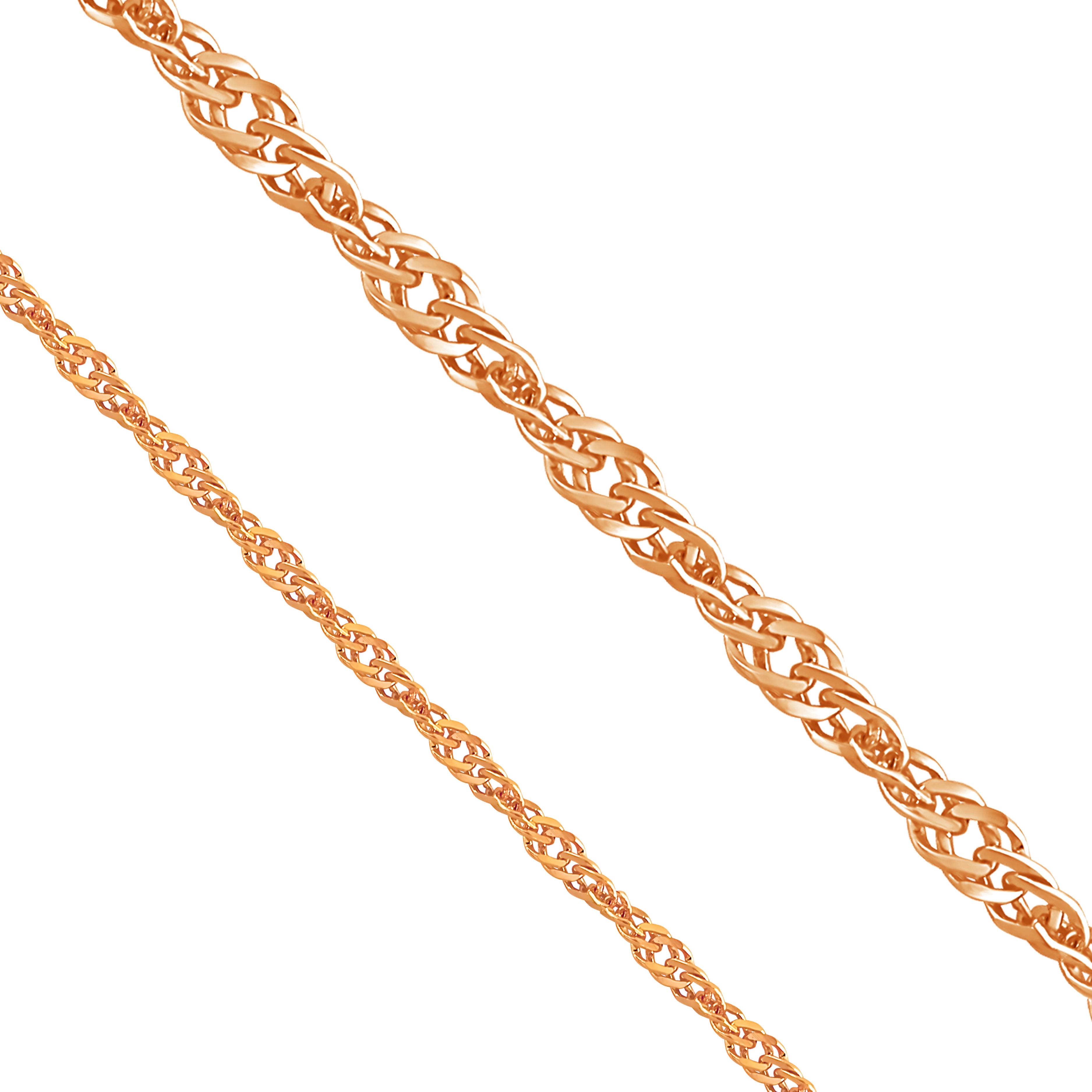 Цепочка из красного золота (арт. ЦПН20412030)